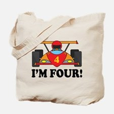 Racing Car 4th Birthday Tote Bag