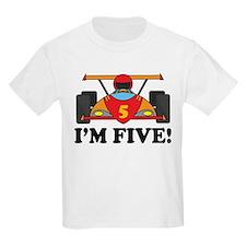 Racing Car 5th Birthday T-Shirt