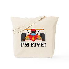 Racing Car 5th Birthday Tote Bag