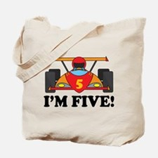 Racing Car 5th Birthday Tote Bag