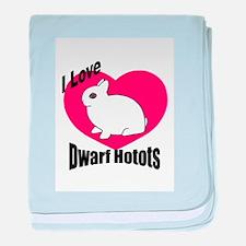 Love My Dwarf Hotot baby blanket