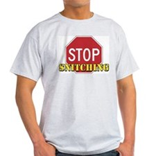 Stop Snitching Ash Grey T-Shirt