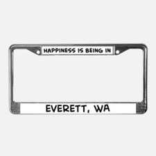Happiness is Everett License Plate Frame