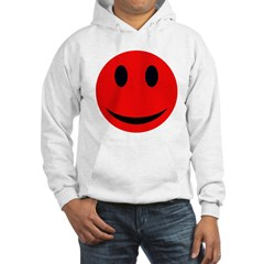 Red Smiley Face With Black Ey Hoodie