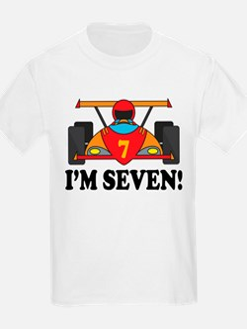 Racing Car 7th Birthday T-Shirt