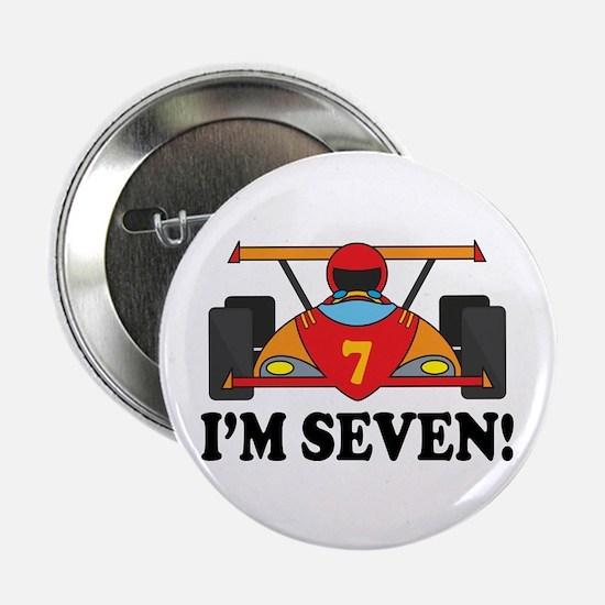 """Racing Car 7th Birthday 2.25"""" Button"""