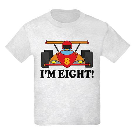 Racing Car 8th Birthday Kids Light T-Shirt