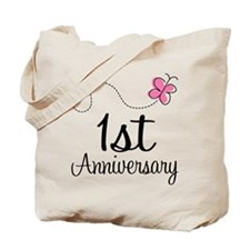 1st Anniversary Gift Butterfly Tote Bag