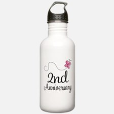 2nd Anniversary Gift Butterfly Water Bottle