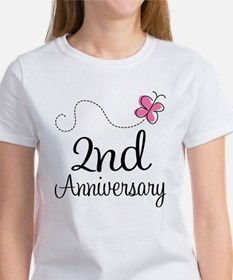 2nd Anniversary Gift Butterfly Tee