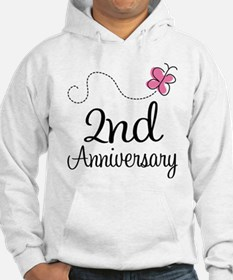 2nd Anniversary Gift Butterfly Hoodie
