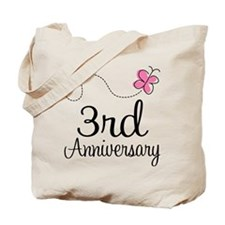 3rd Anniversary Gift Butterfly Tote Bag
