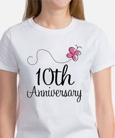 10th Anniversary Gift Butterfly Tee