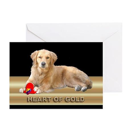 Golden Retriever Note Cards Black (Pk of 10)