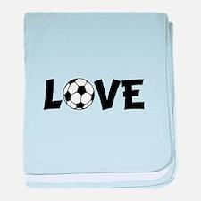 Love Soccer baby blanket
