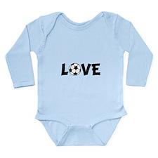 Love Soccer Long Sleeve Infant Bodysuit