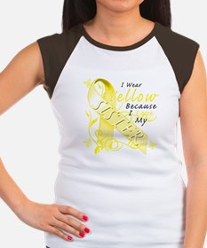 I Wear Yellow Because I Love Women's Cap Sleeve T-