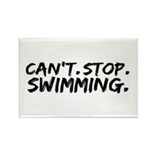Can't Stop Swimming Rectangle Magnet (100 pack)