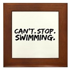 Can't Stop Swimming Framed Tile