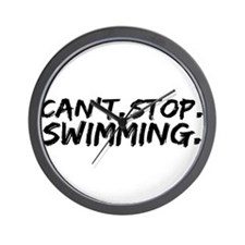Can't Stop Swimming Wall Clock