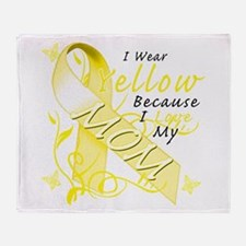I Wear Yellow Because I Love Throw Blanket