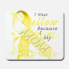 I Wear Yellow Because I Love Mousepad