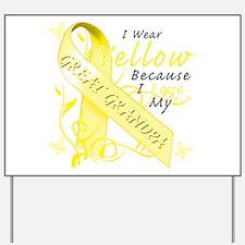 I Wear Yellow Because I Love Yard Sign