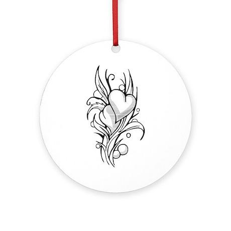 Heart Tattoo Ornament (Round)