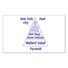 New York City Food Pyramid Decal