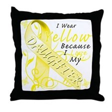 I Wear Yellow Because I Love Throw Pillow