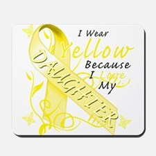 I Wear Yellow Because I Love Mousepad