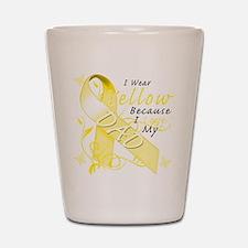 I Wear Yellow Because I Love Shot Glass