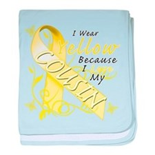 I Wear Yellow Because I Love baby blanket
