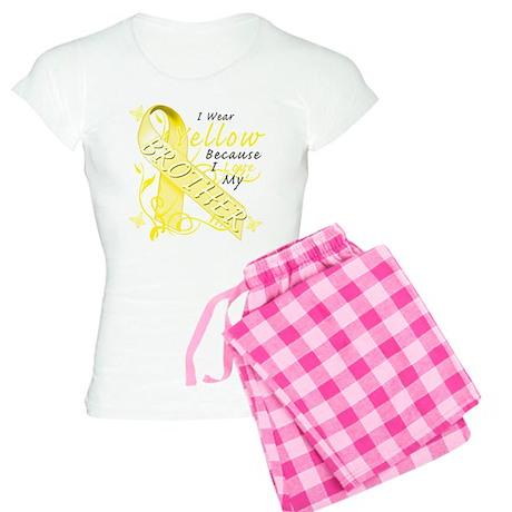 I Wear Yellow Because I Love Women's Light Pajamas