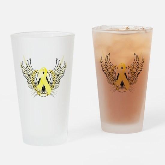 Awareness Tribal Yellow Drinking Glass