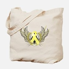 Awareness Tribal Yellow Tote Bag