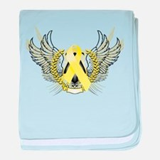 Awareness Tribal Yellow baby blanket