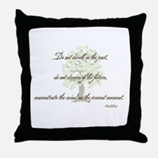 Buddha- Present Moment Throw Pillow