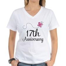 17th Anniversary Gift Butterfly Shirt