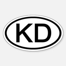 KD - Initial Oval Oval Decal