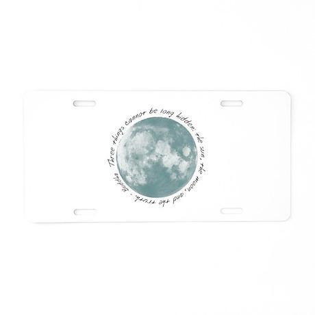 Buddha-Moon Aluminum License Plate