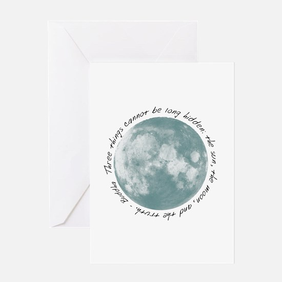 Buddha-Moon Greeting Card