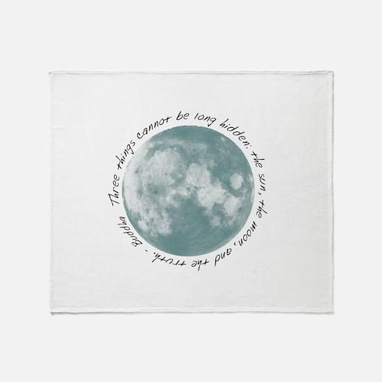 Buddha-Moon Throw Blanket