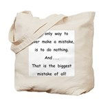 Make a Mistake Tote Bag