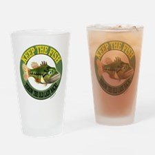 Keep The Fish Drinking Glass