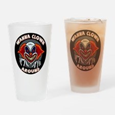 Evil Clown Drinking Glass