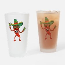 Hot Mexican Pepper Drinking Glass
