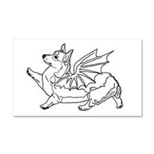 The Welsh Corgon - Car Magnet 20 x 12