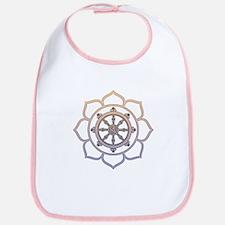 Dharma Wheel with Lotus Flowe Bib