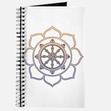 Dharma Wheel with Lotus Flowe Journal